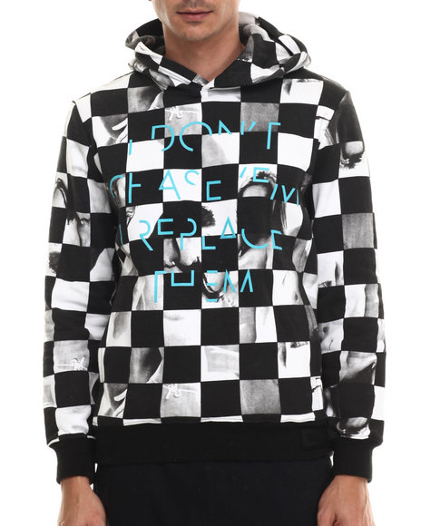 Rocawear Blak - Men Black Don't Chase Em Pullover Fleece Hoodie