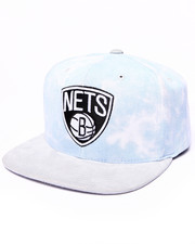 Men - Brooklyn Nets Sky Grey Acid wash Snapback Hat (Drjays.com Exclusive)