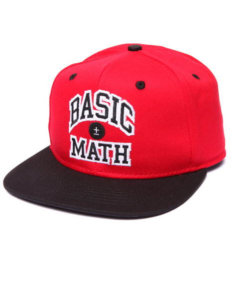 Basic Math Men Champion Arch Snapback Hat Red