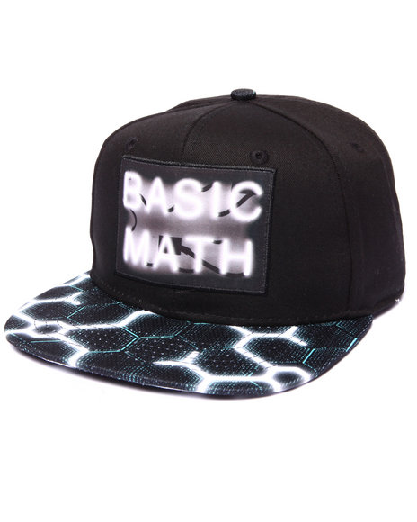 Ur-ID 222943 Basic Math - Men Black Up Late Neon Sign Snapback Hat