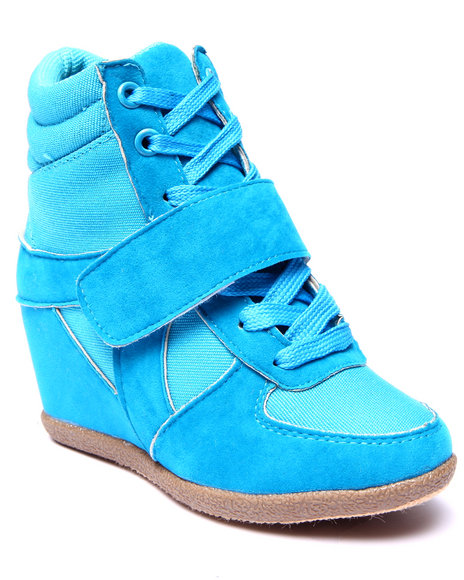 La Galleria - Girls Blue Wedge Sneakers (11-4)