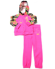 Girls - 2 PC FLORAL FLEECE SET (4-6X)