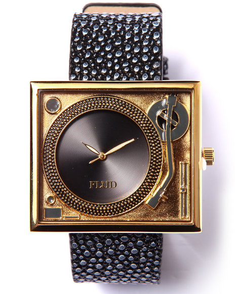 Flud Watches Men Table Turns Embosed Stingray Edition Watch Black