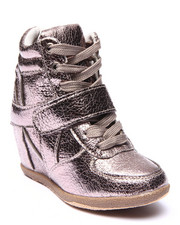 La Galleria - METALLIC WEDGE SNEAKERS (11-4)