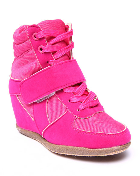 La Galleria - Girls Pink Wedge Sneakers (11-4)