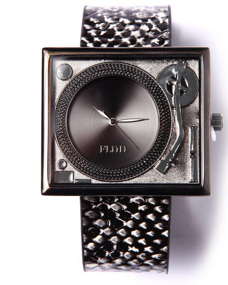 Flud Watches Men Table Turns Embosed Snake Edition Watch Animal Print