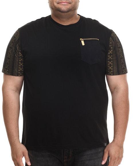 Eight 732 - Men Black Monogram T-Shirt (B&T)