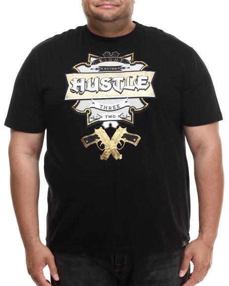 Eight 732 - Men Black Hustle T-Shirt (B&T)
