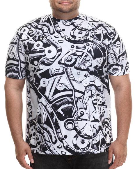 Eight 732 - Men Grey Watch Mouth T-Shirt (B&T)