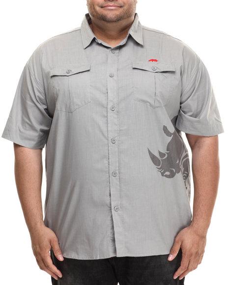 Ecko - Men Grey Tonal Rhino S/S Button-Down (B&T)
