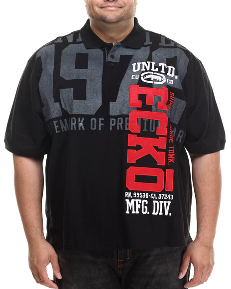 Ecko - Men Black Vertical Ecko Polo (B&T)