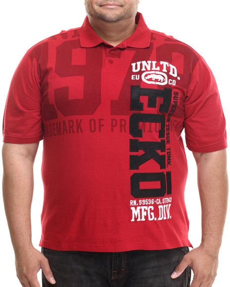 Ecko - Men Red Vertical Ecko Polo (B&T)