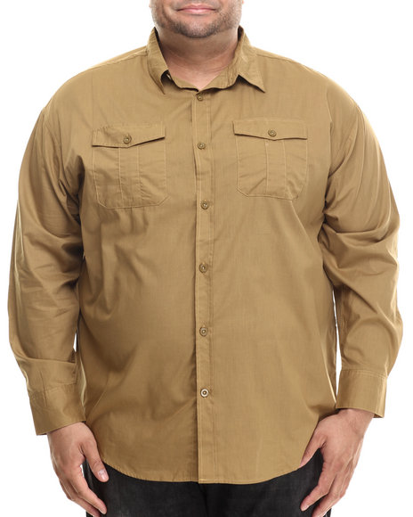 Ur-ID 206892 Ecko - Men Khaki Ecko Division L/S Button-Down (B&T)