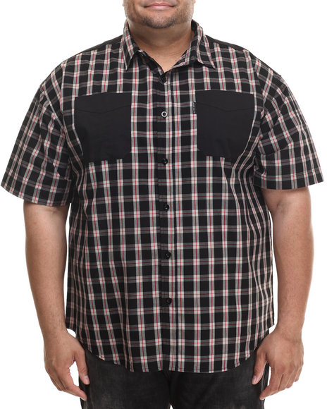 Ecko - Men Black Ecko Check S/S Button-Down (B&T)