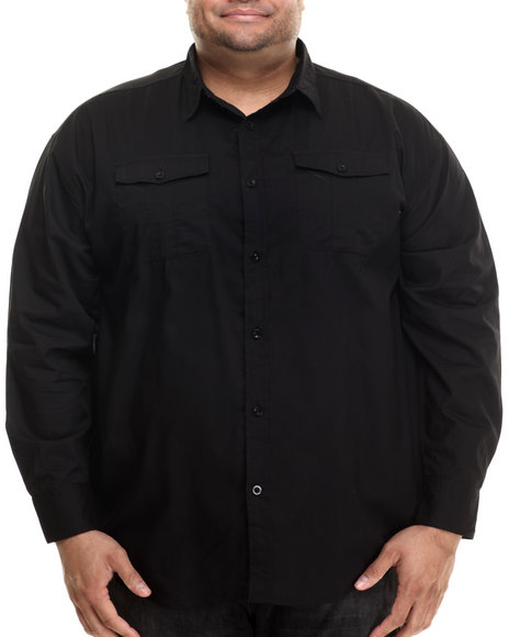 Ur-ID 206895 Ecko - Men Black Ecko Division L/S Button-Down (B&T)