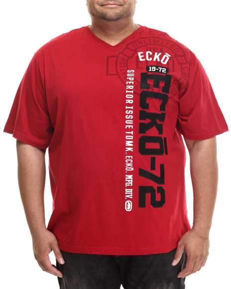 Ecko - Men Red Veritcal Numberical T-Shirt (B&T)