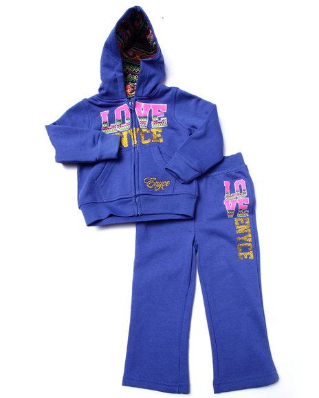 Enyce - Girls Blue 2 Pc Love Enyce Fleece Set (2T-4T)
