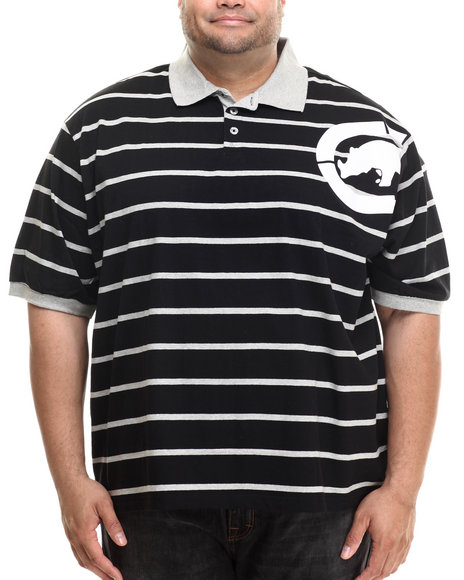 Ecko - Men Black Armpit Stripe Polo (B&T) - $24.99