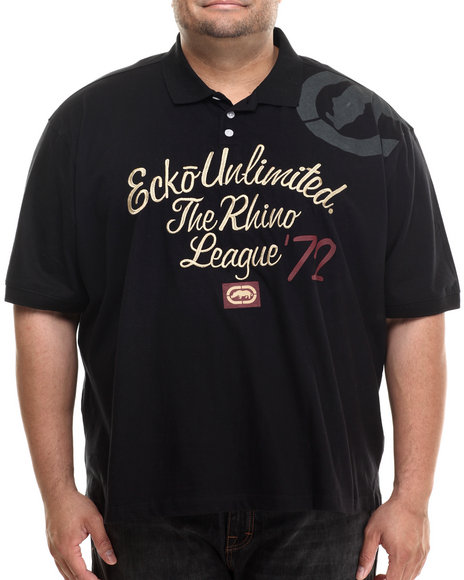 Ur-ID 206926 Ecko - Men Black Rhino League Polo (B&T)