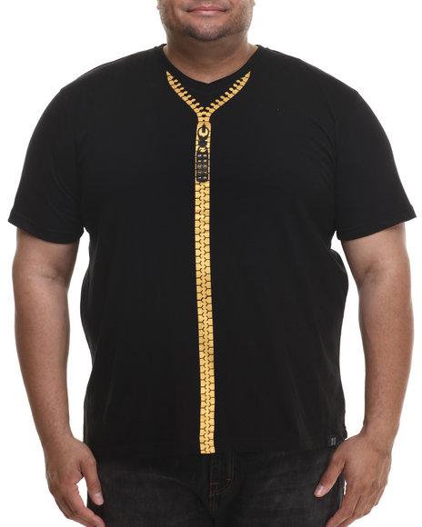 Eight 732 - Men Black Zipped T-Shirt (B&T)