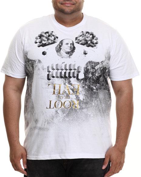 Eight 732 - Men White Root T-Shirt (B&T)