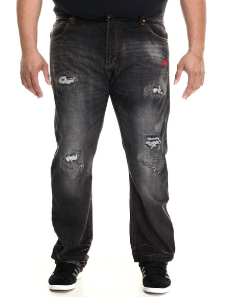 Eight 732 - Men Black Stuntin Denin Jeans (B&T)