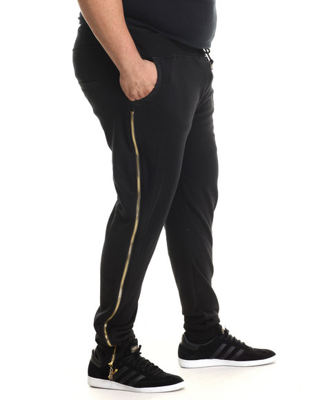 Eight 732 - Men Black Zipped Sweatpant (B&T)