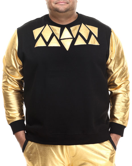 Eight 732 - Men Black Stuntin Sweatshirt (B&T)