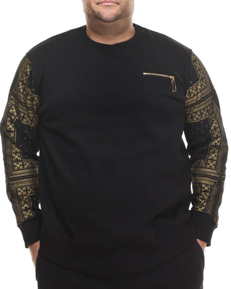 Eight 732 - Men Black Monogram Sweatshirt (B&T)