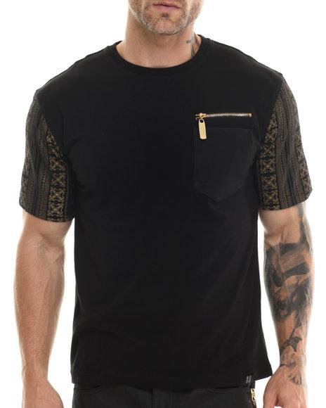 Eight 732 - Men Black Monogram T-Shirt