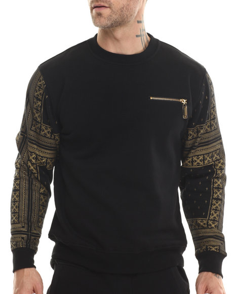 Eight 732 - Men Black Monogram Sweatshirt