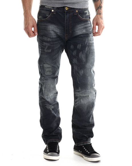 Eight 732 - Men Medium Wash Amazing Denim Jean