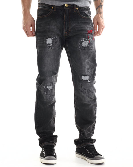 Eight 732 - Men Black Stuntin Denim Jean