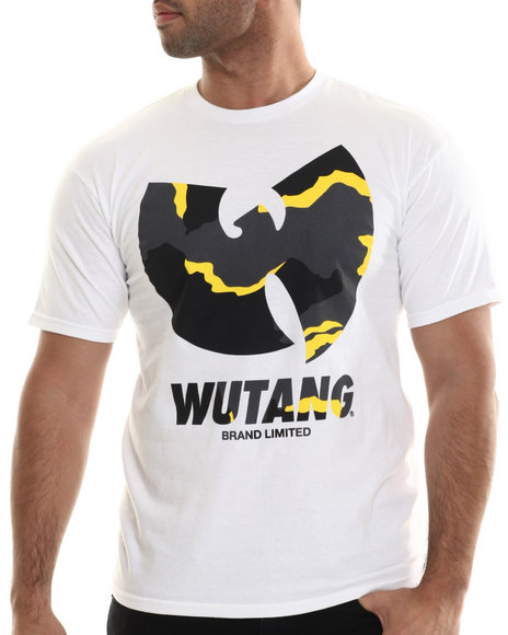 Ur-ID 207057 Wu-Tang Limited - Men White Wtb Camo T-Shirt