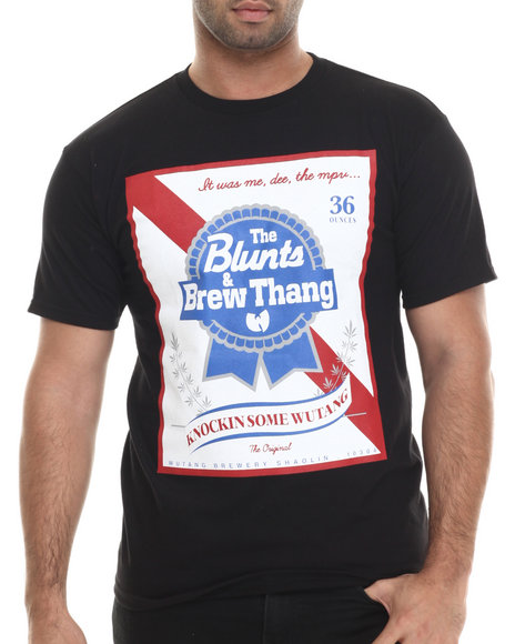Ur-ID 207061 Wu-Tang Limited - Men Black Blunts & Brew T-Shirt