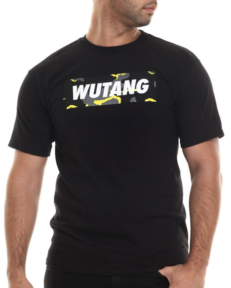 Ur-ID 207099 Wu-Tang Limited - Men Black Camo Box T-Shirt