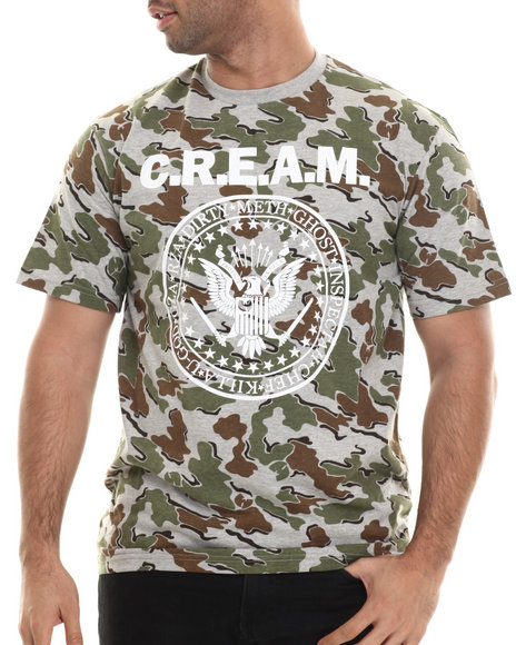 Ur-ID 207102 Wu-Tang Limited - Men Camo Cream Seal T-Shirt