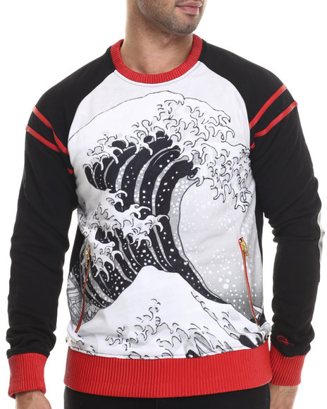 Ur-ID 207064 Frost Originals - Men Black Tsunami S/S Pullover