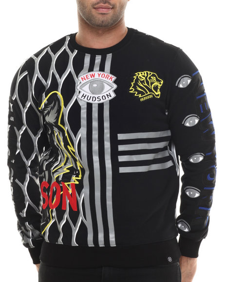 Hudson Nyc - Men Black Tiger Empire Crewneck Sweatshirt