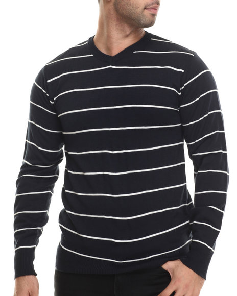 Buyers Picks - Men Navy Weekender V-Neck Sweater