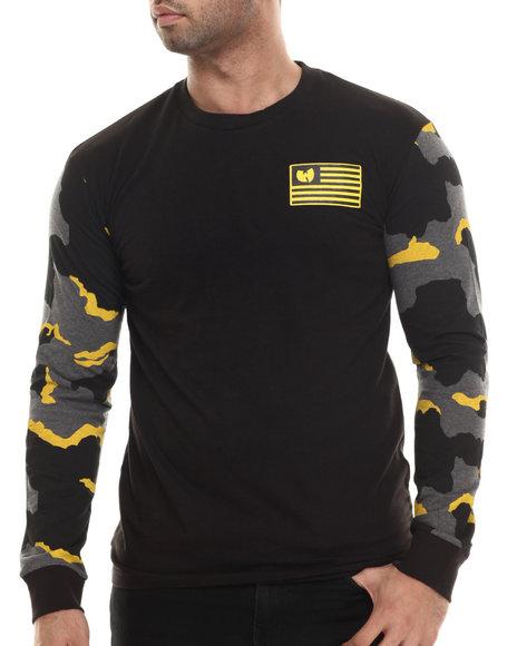 Wu-Tang Limited - Men Black Iron Flag L/S T-Shirt