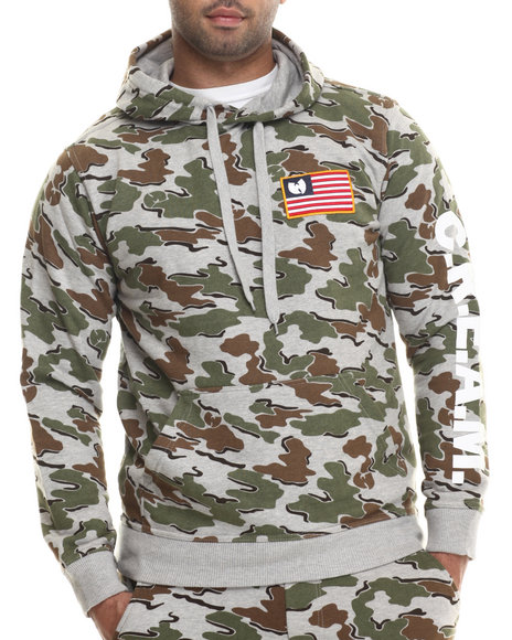 Wu-Tang Limited - Men Grey Cream Camo Pullover