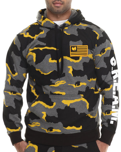Wu-Tang Limited - Men Charcoal Cream Camo Pullover Hoodie
