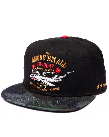 Lrg Men Smoke Em All Hat Black