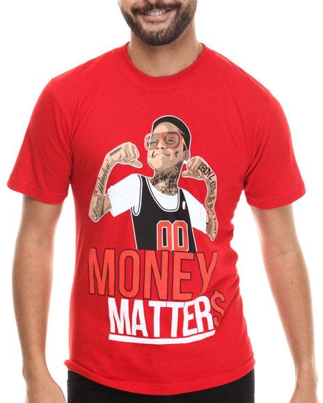 Buyers Picks - Men Red Money Matters S/S Tee - $22.00