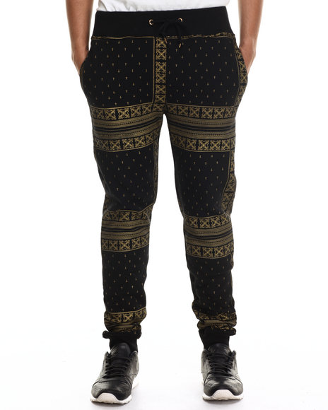 Eight 732 - Men Black Monogram Sweatpant