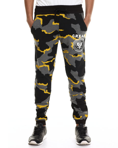 Wu-Tang Limited - Men Charcoal Cream Seal Sweatpants