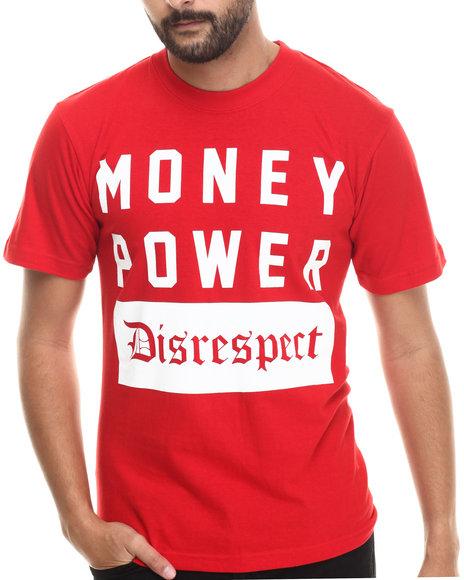 Buyers Picks - Men Red Money Power Disrespect S/S Tee - $16.99