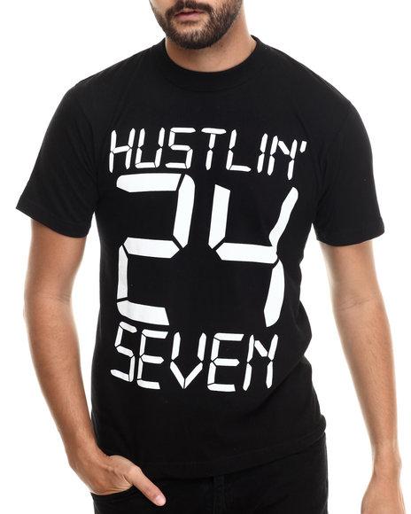 Buyers Picks - Men Black Hustlin' 24-7 S/S Tee