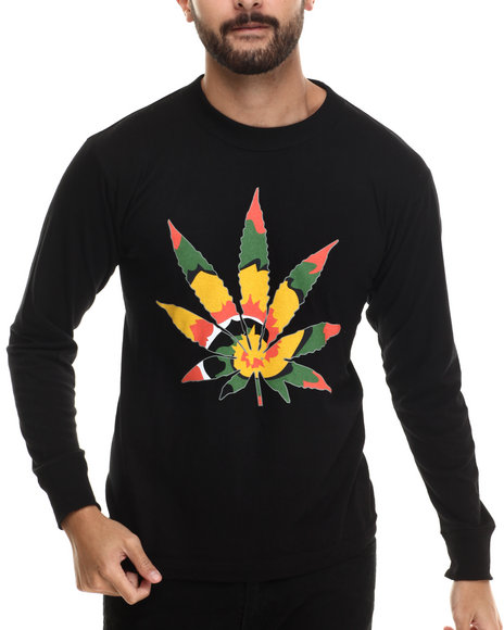 Buyers Picks - Men Black Tie Dye High L/S Tee - $14.99
